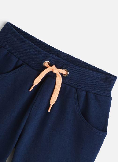 Vêtements 3 Pommes Bermuda molleton 3Q25005 Bleu vue portées chaussures
