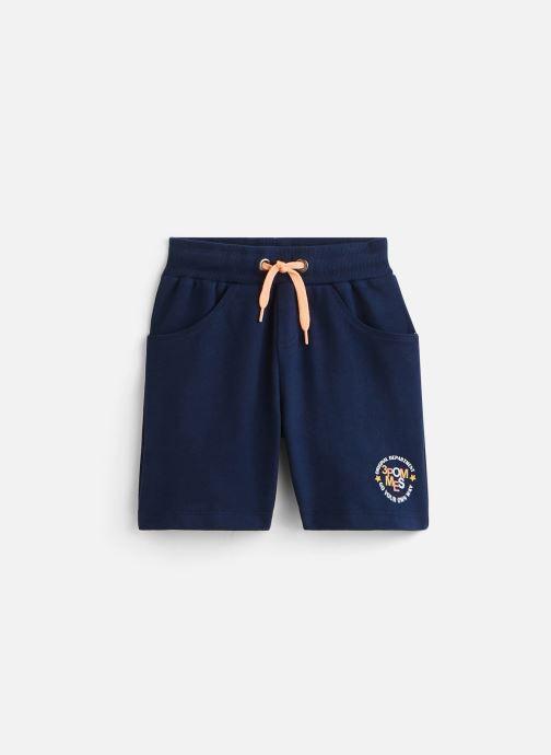 Vêtements 3 Pommes Bermuda molleton 3Q25005 Bleu vue détail/paire