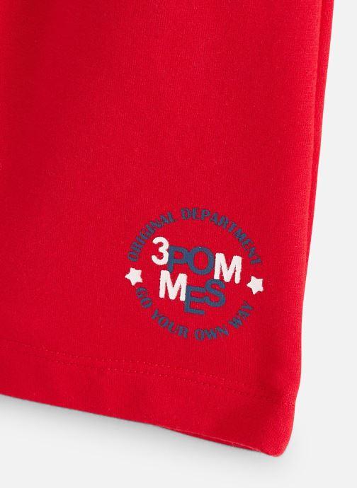 Vêtements 3 Pommes Bermuda molleton 3Q25005 Rouge vue portées chaussures