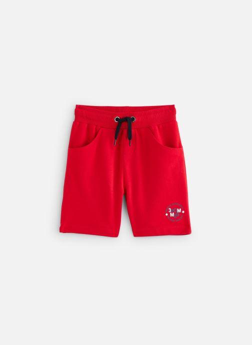 Vêtements 3 Pommes Bermuda molleton 3Q25005 Rouge vue détail/paire