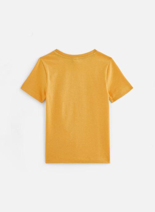 Vêtements 3 Pommes Tee-shirt imprimé 3Q10025 Jaune vue bas / vue portée sac