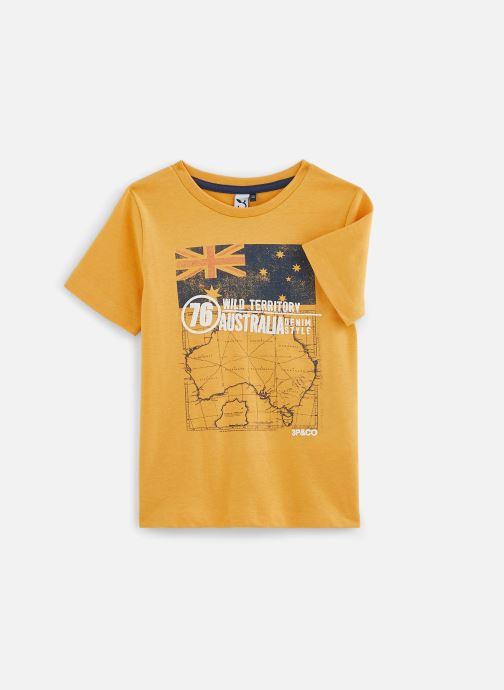 Vêtements 3 Pommes Tee-shirt imprimé 3Q10025 Jaune vue détail/paire