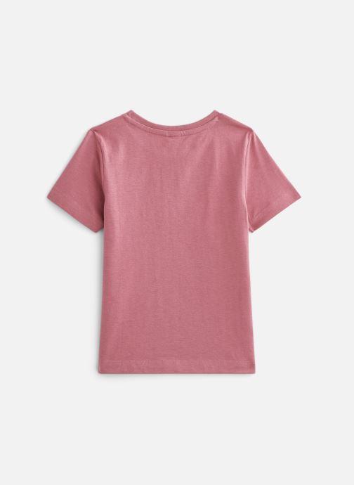 Vêtements 3 Pommes Tee-shirt imprimé 3Q10025 Rose vue bas / vue portée sac
