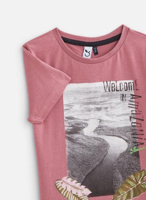 Vêtements 3 Pommes Tee-shirt imprimé 3Q10025 Rose vue portées chaussures