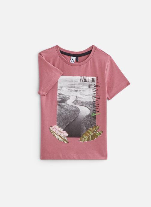 Vêtements 3 Pommes Tee-shirt imprimé 3Q10025 Rose vue détail/paire