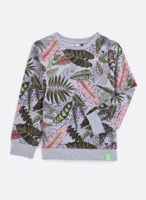 Vêtements Accessoires Sweat gris chiné à motifs 3Q15055