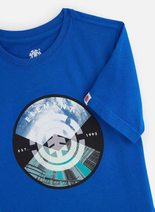 Vêtements Element T-shirt S2SSA3ELP0 Bleu vue portées chaussures