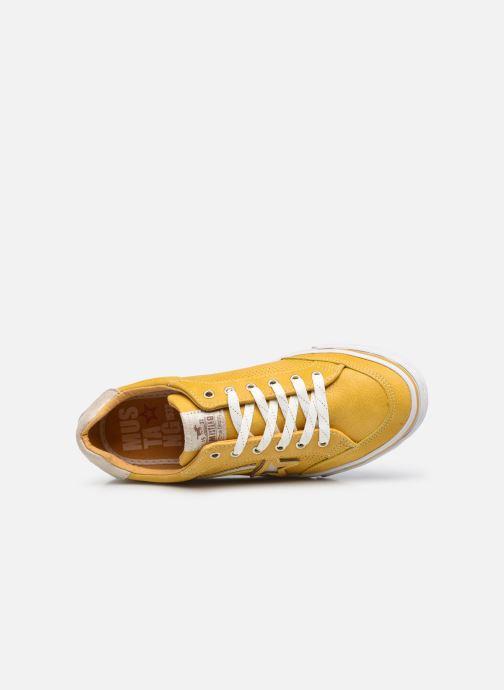 Sneaker Mustang shoes 5056301 gelb ansicht von links