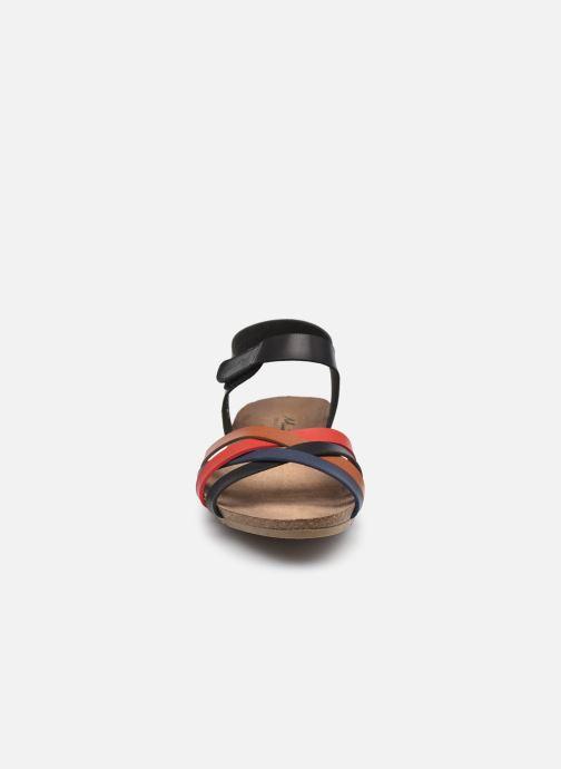 Sandalen Mustang shoes 5057801 schwarz schuhe getragen