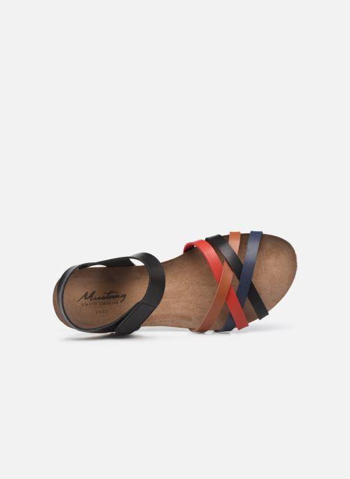 Sandalen Mustang shoes 5057801 schwarz ansicht von links