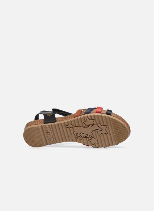 Sandalen Mustang shoes 5057801 schwarz ansicht von oben