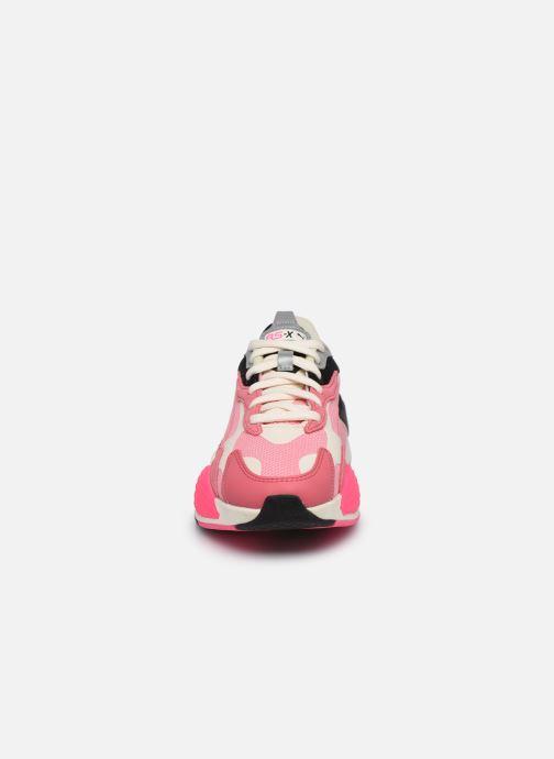 Baskets Puma RS-X3 CUBE W Rose vue portées chaussures