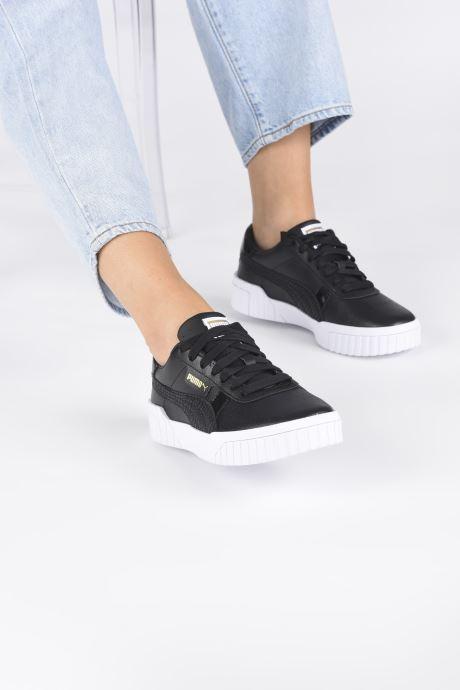 Sneaker Puma Cali Snake Wn's schwarz ansicht von unten / tasche getragen
