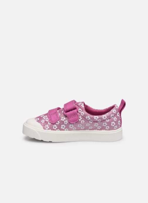 Baskets Clarks City bright T Rose vue face