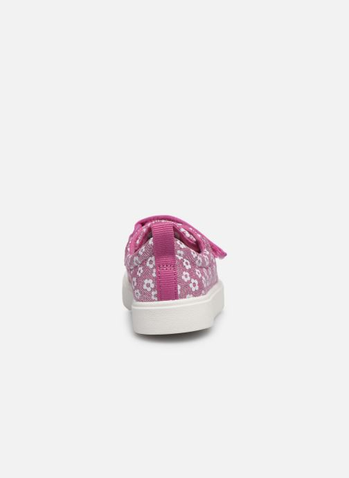Baskets Clarks City bright T Rose vue droite