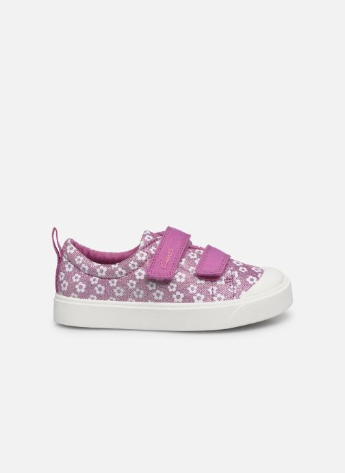 Baskets Clarks City bright T Rose vue derrière