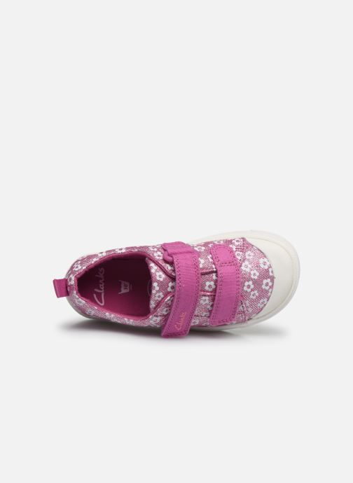 Baskets Clarks City bright T Rose vue gauche