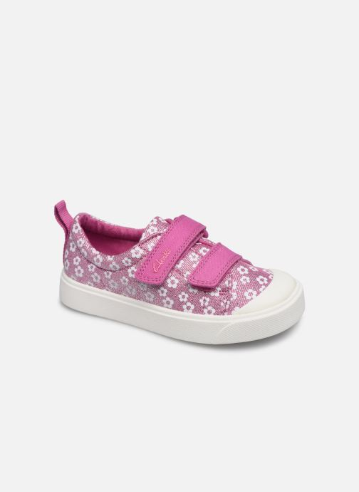 Baskets Clarks City bright T Rose vue détail/paire