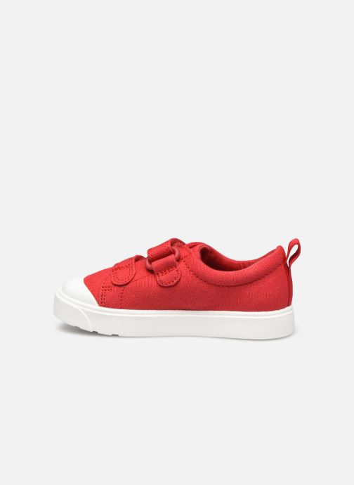 Sneakers Clarks City bright T Rood voorkant