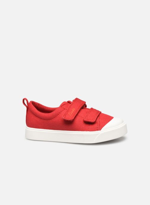 Sneakers Clarks City bright T Rood achterkant