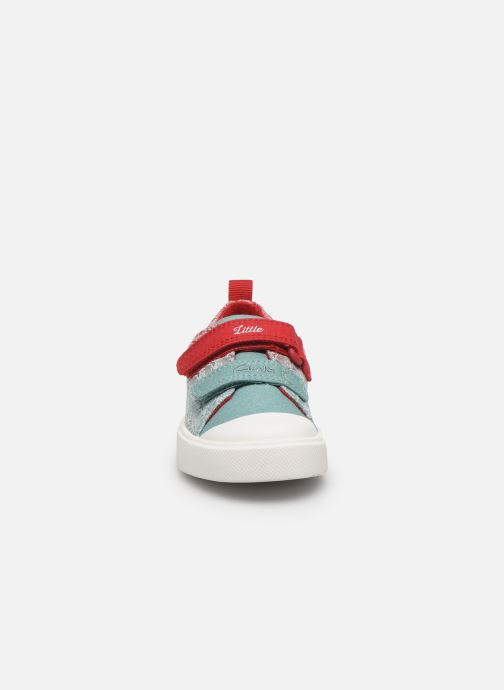 Baskets Clarks City shell T Rouge vue portées chaussures