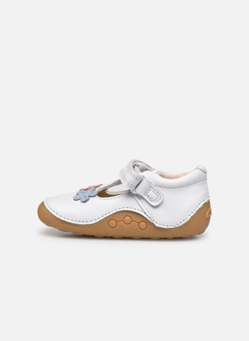 Zapatos con velcro Clarks Tiny sun T DOUBLON Blanco vista de frente