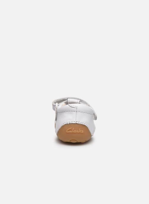 Zapatos con velcro Clarks Tiny sun T DOUBLON Blanco vista lateral derecha