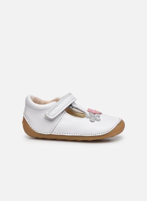 Zapatos con velcro Clarks Tiny sun T DOUBLON Blanco vistra trasera