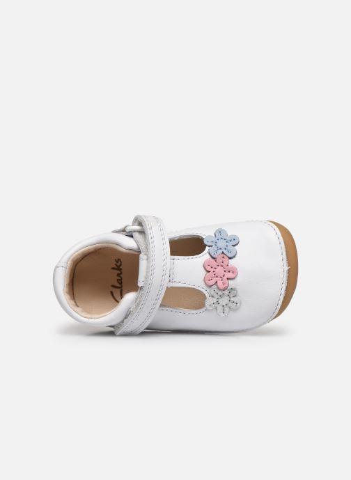 Zapatos con velcro Clarks Tiny sun T DOUBLON Blanco vista lateral izquierda