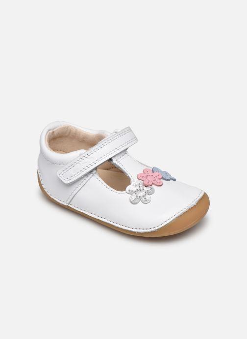 Zapatos con velcro Clarks Tiny sun T DOUBLON Blanco vista de detalle / par