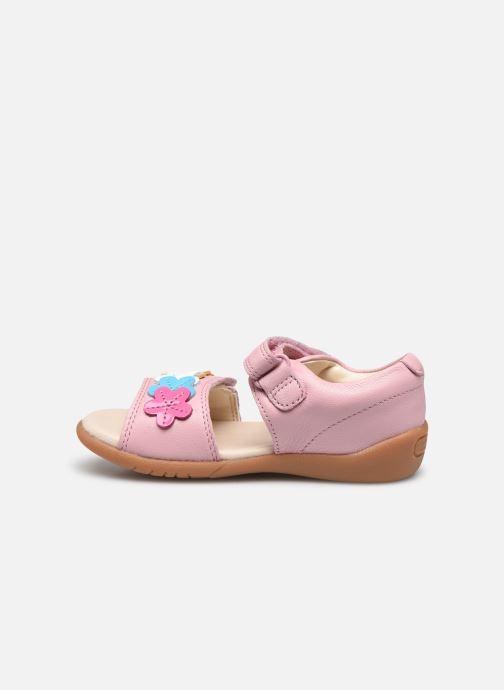 Sandalen Clarks Zora finch T rosa ansicht von vorne