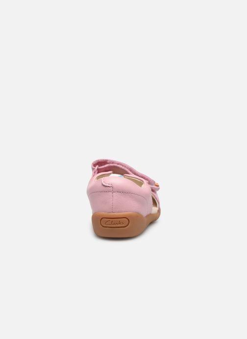Sandalen Clarks Zora finch T rosa ansicht von rechts