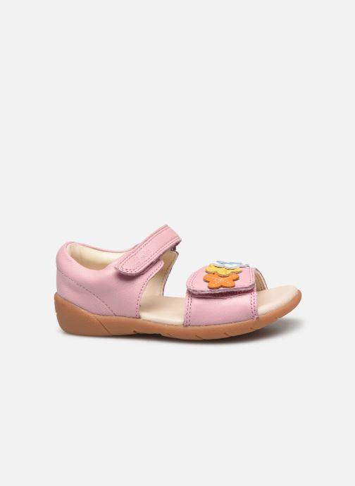 Sandalen Clarks Zora finch T rosa ansicht von hinten