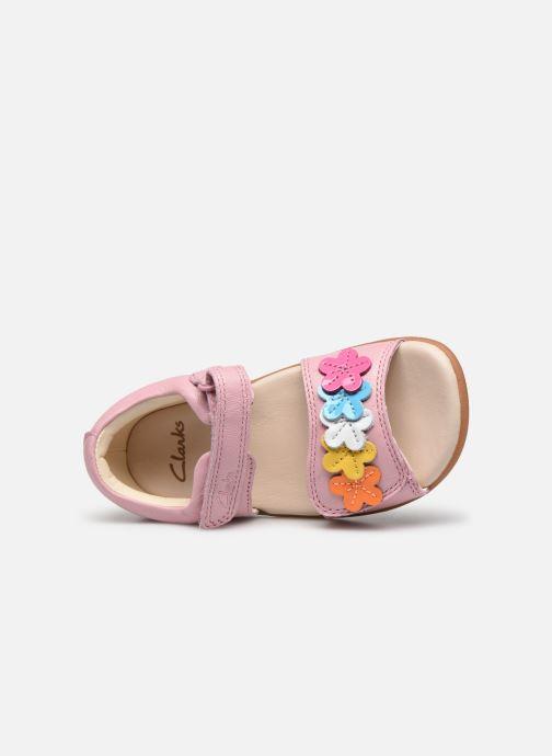 Sandali e scarpe aperte Clarks Zora finch T Rosa immagine sinistra