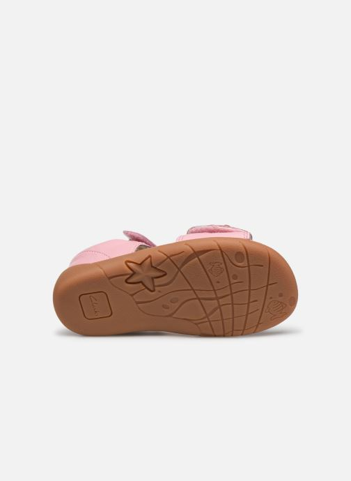 Sandalen Clarks Zora finch T rosa ansicht von oben