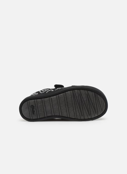 Baskets Clarks City glove T Noir vue haut