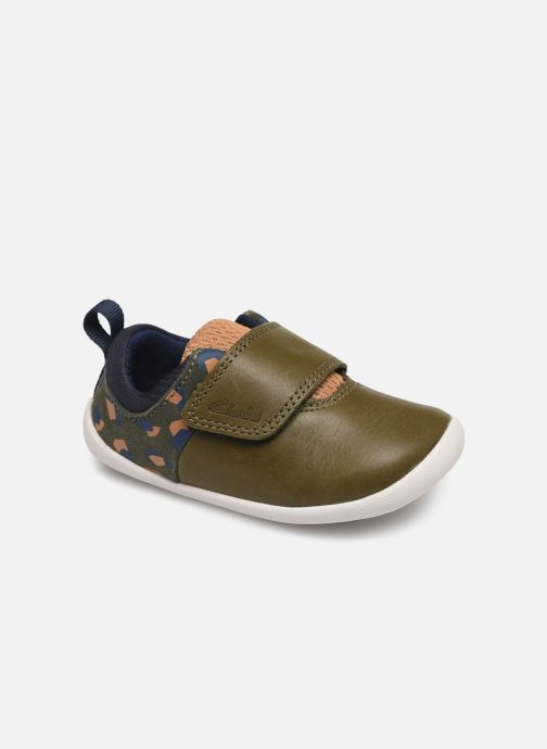 Trainers Clarks Roamer sport T Green detailed view/ Pair view