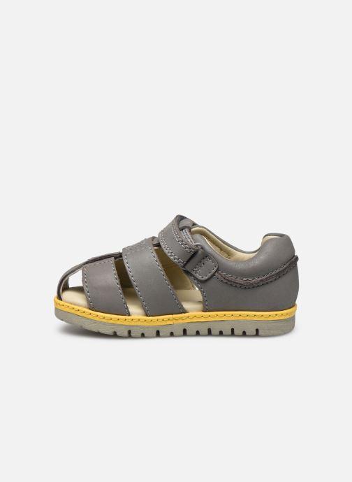 Sandales et nu-pieds Clarks Frances sun T Gris vue face