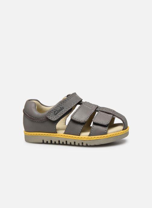 Sandales et nu-pieds Clarks Frances sun T Gris vue derrière