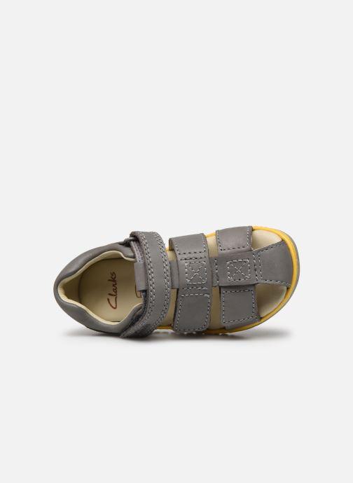 Sandales et nu-pieds Clarks Frances sun T Gris vue gauche