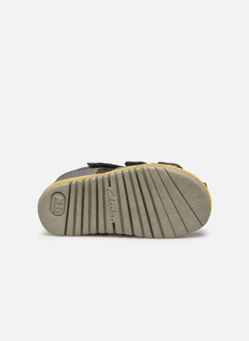 Sandales et nu-pieds Clarks Frances sun T Gris vue haut