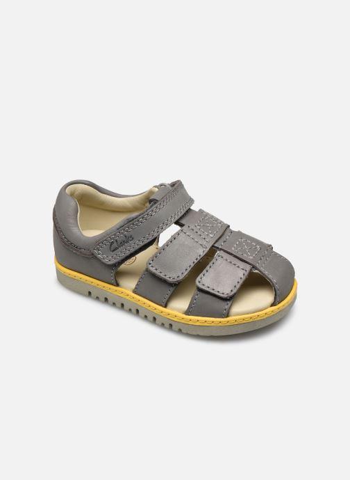 Sandales et nu-pieds Clarks Frances sun T Gris vue détail/paire