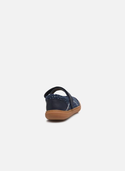 Bailarinas Clarks Flash Stride K Azul vista lateral derecha