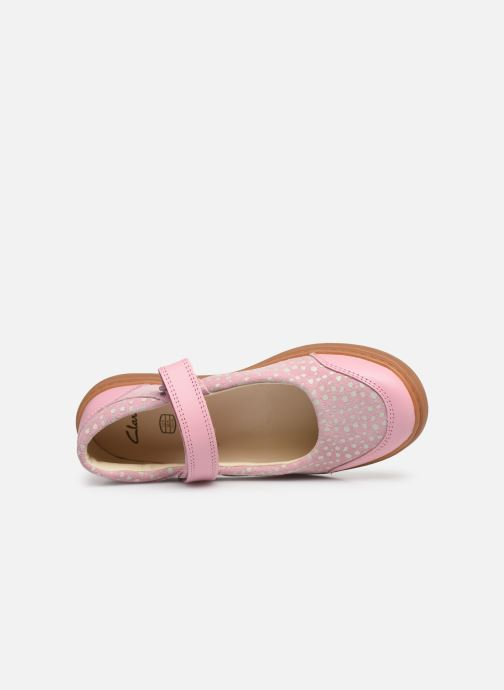 Ballerines Clarks Flash Stride K Rose vue gauche