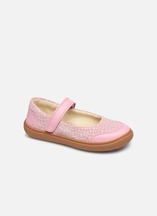 Ballerines Clarks Flash Stride K Rose vue détail/paire