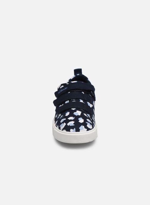 Baskets Clarks City Vibe K Bleu vue portées chaussures