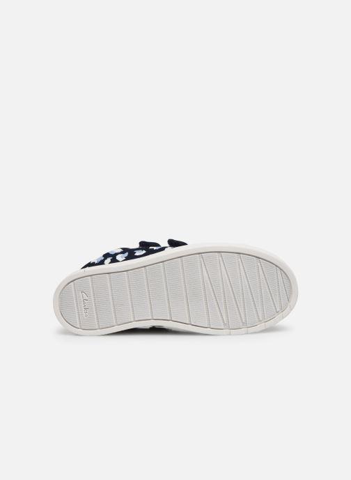 Sneaker Clarks City Vibe K blau ansicht von oben