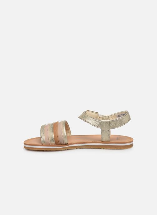 Sandales et nu-pieds Clarks Finch Stride K Argent vue face