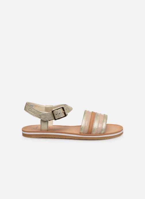 Sandales et nu-pieds Clarks Finch Stride K Argent vue derrière