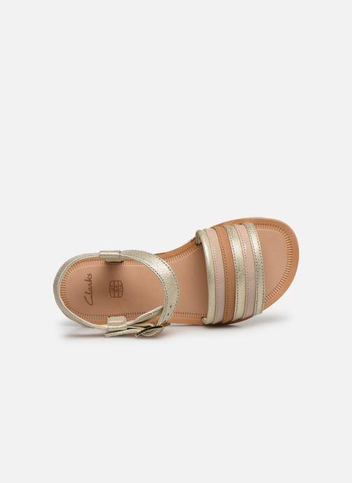 Sandales et nu-pieds Clarks Finch Stride K Argent vue gauche